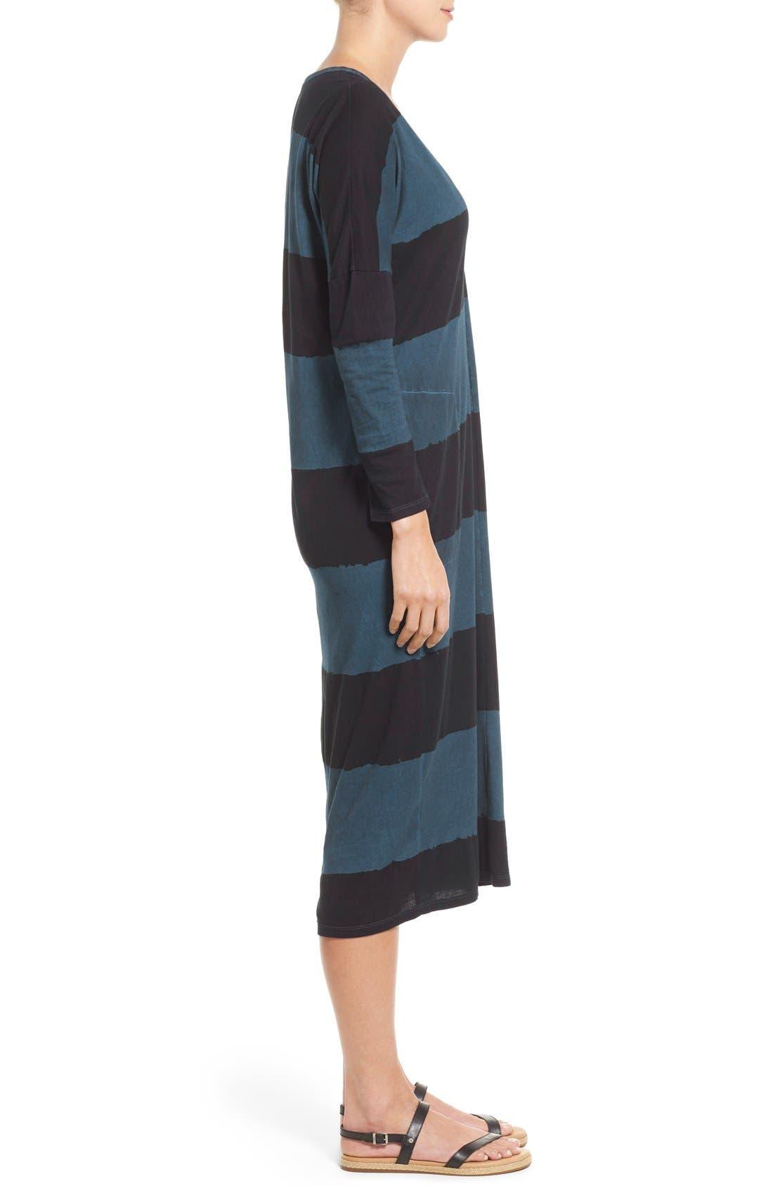 Alternate Image 3  - Lucky Brand Dyed Stripe Cotton Knit Midi Dress