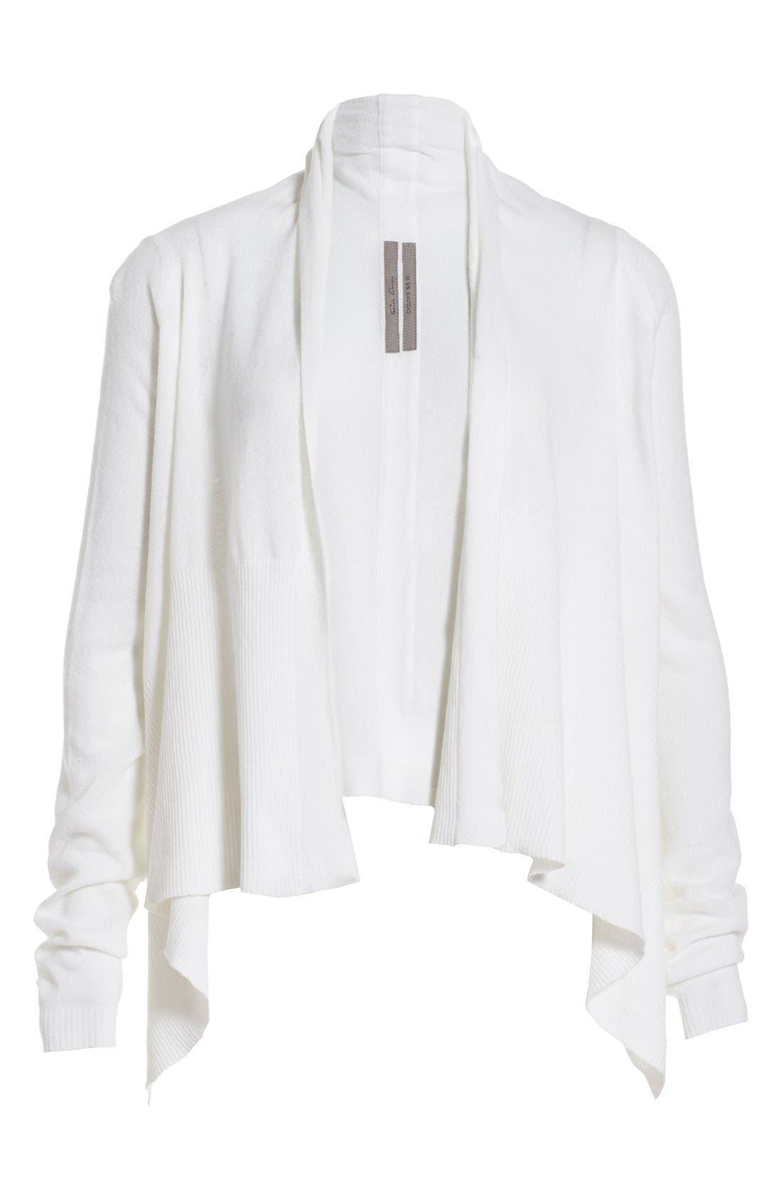 Alternate Image 4  - Rick Owens Drape Front Cotton & Cashmere Cardigan