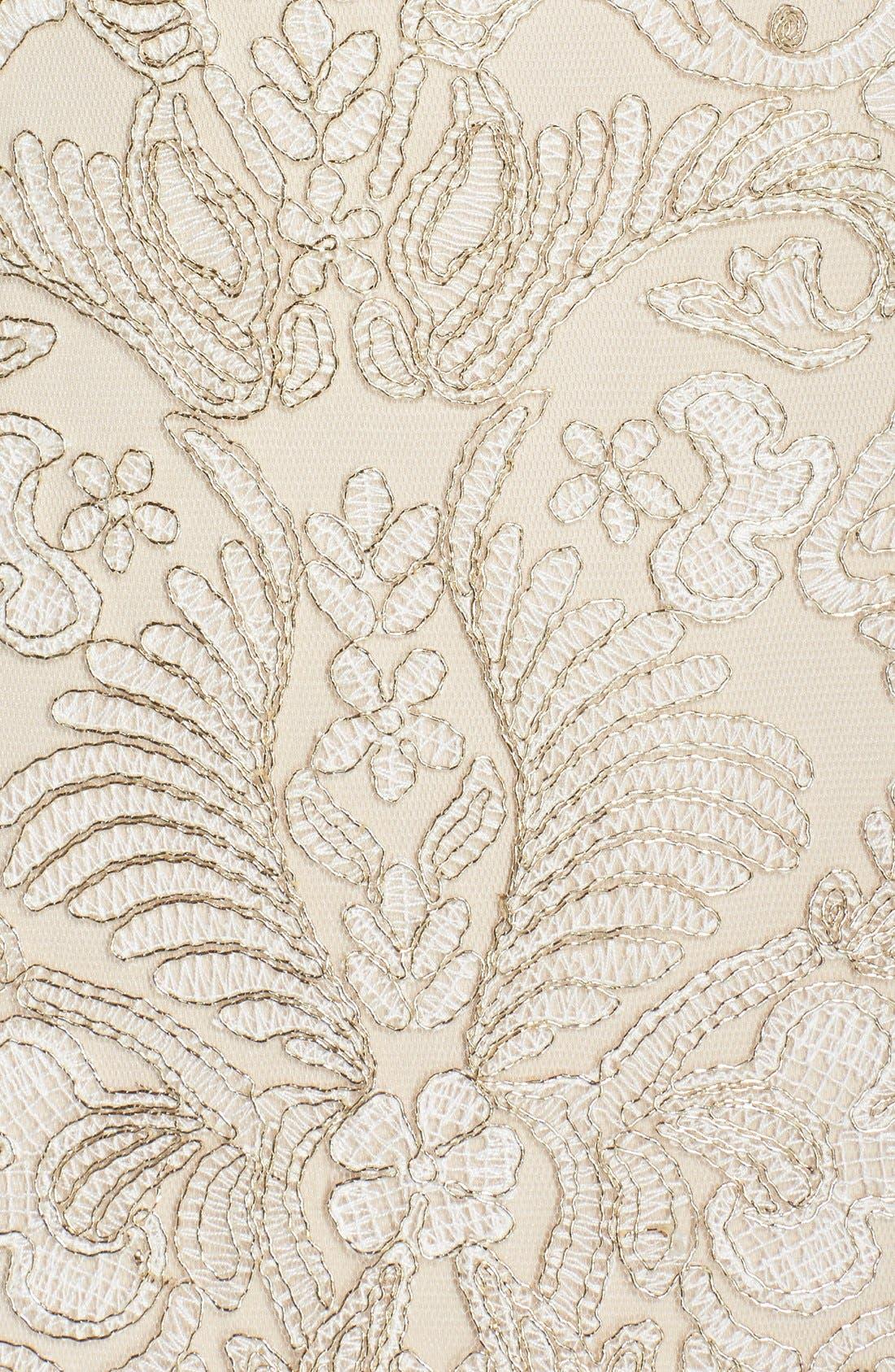 Alternate Image 6  - Tadashi Shoji Embroidered Off the Shoulder Mesh Sheath Dress (Regular & Petite)