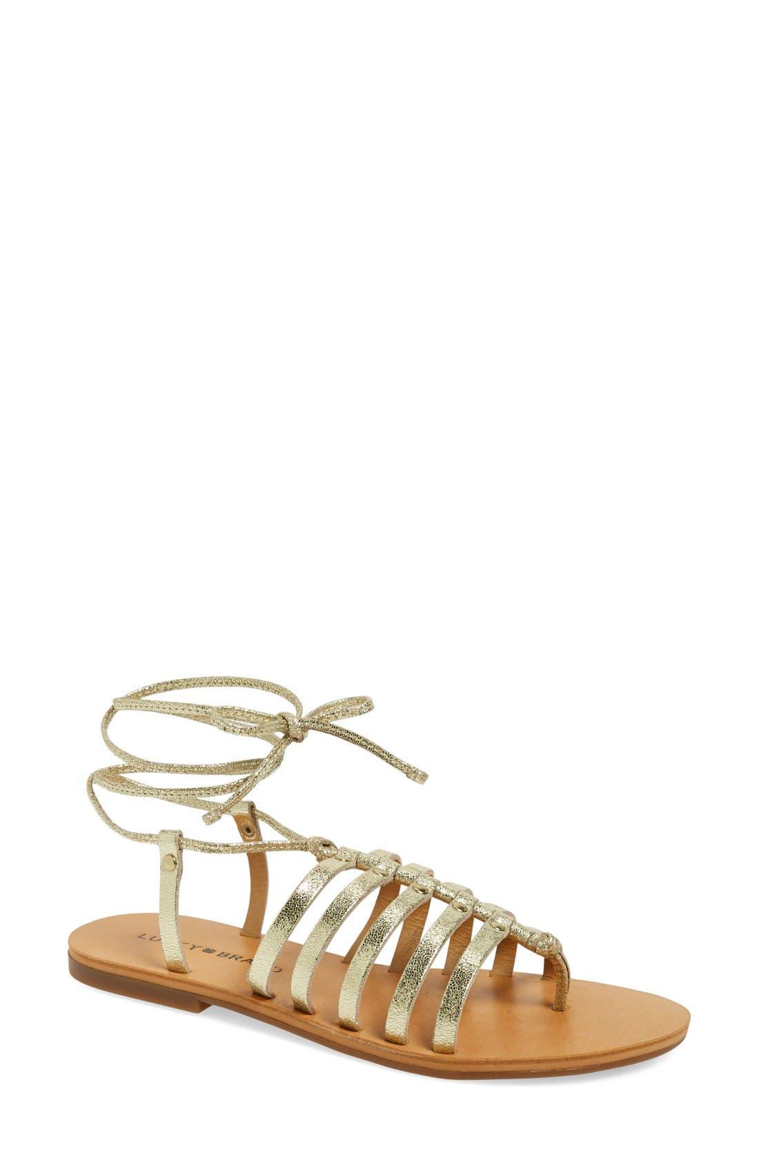Alternate Image 1 Selected - Lucky Brand 'Colette' Gladiator Sandal (Women)