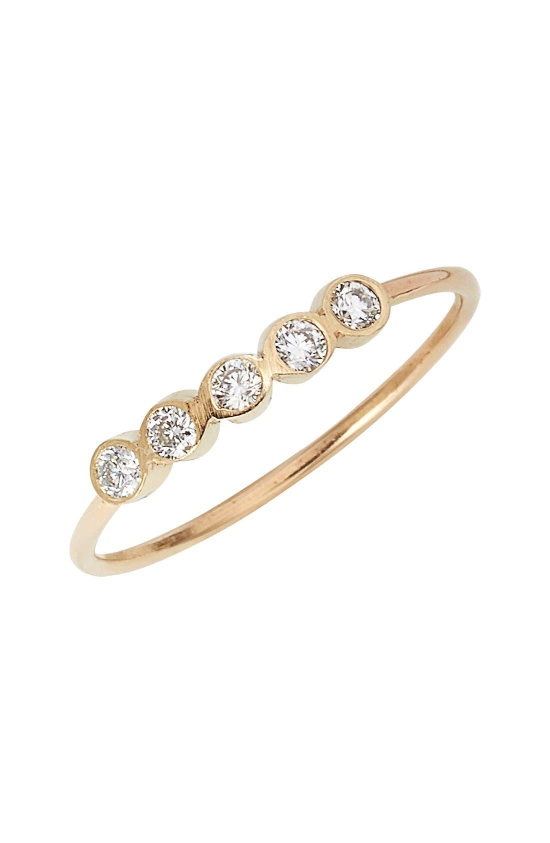 Alternate Image 1 Selected - Zoë Chicco Diamond Bezel Ring
