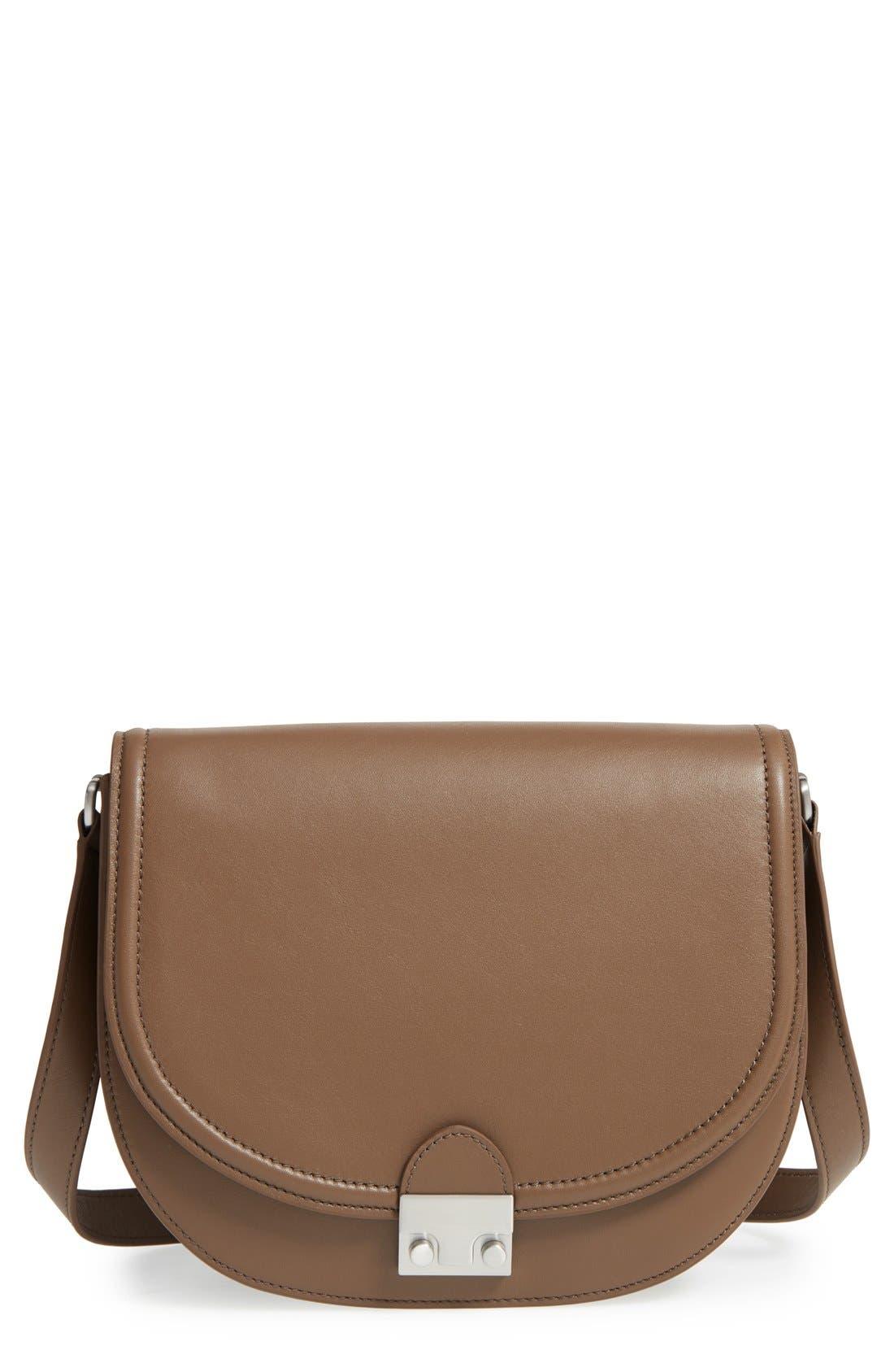 Main Image - Loeffler Randall 'Large' Leather Saddle Bag