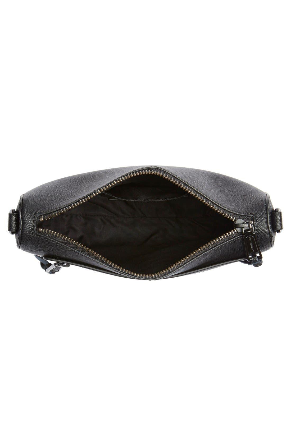 'Avery' Crossbody Bag,                             Alternate thumbnail 4, color,                             Black/ Black Hrdwr