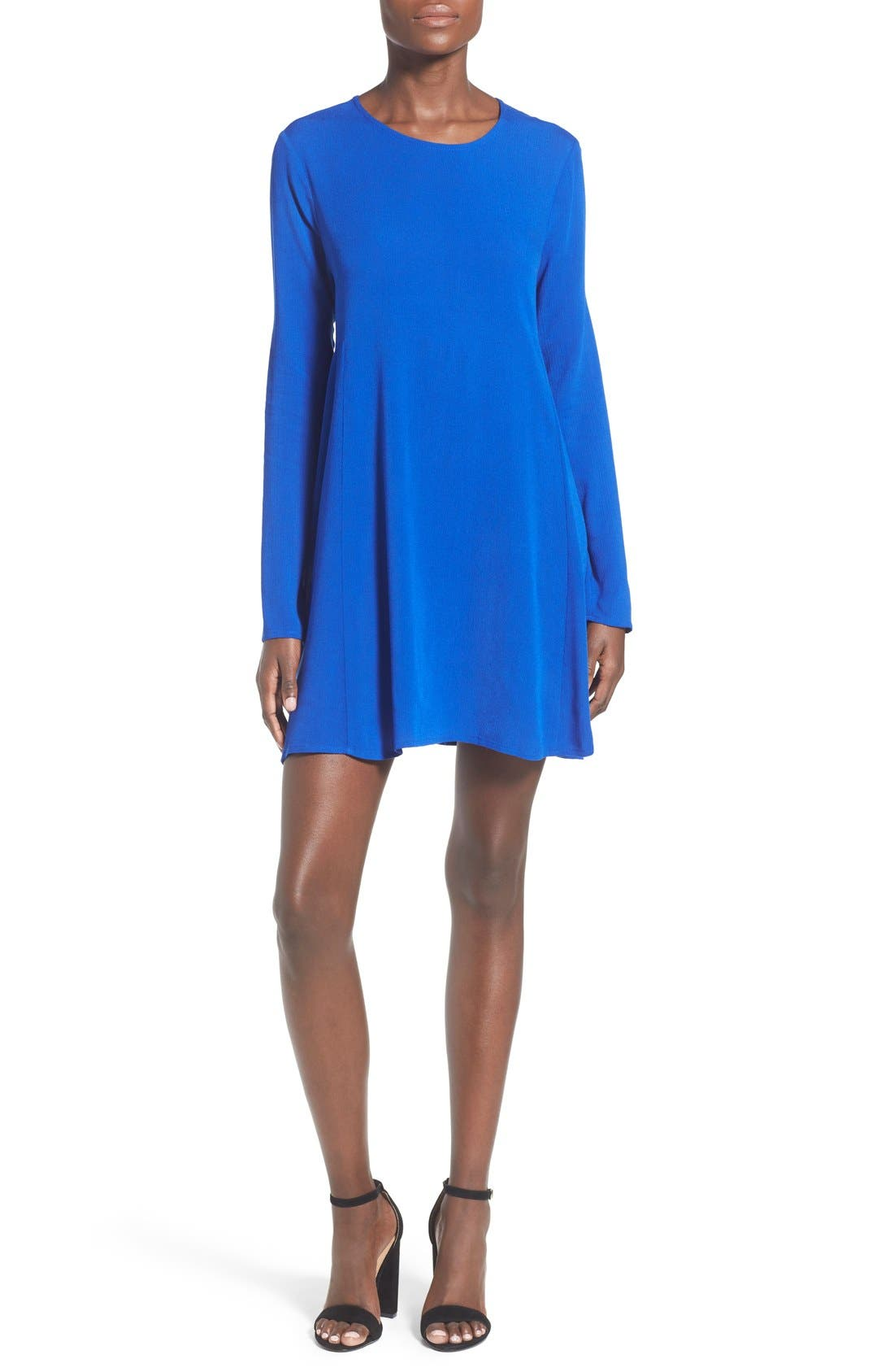 Main Image - dee elle Long Sleeve Shift Dress