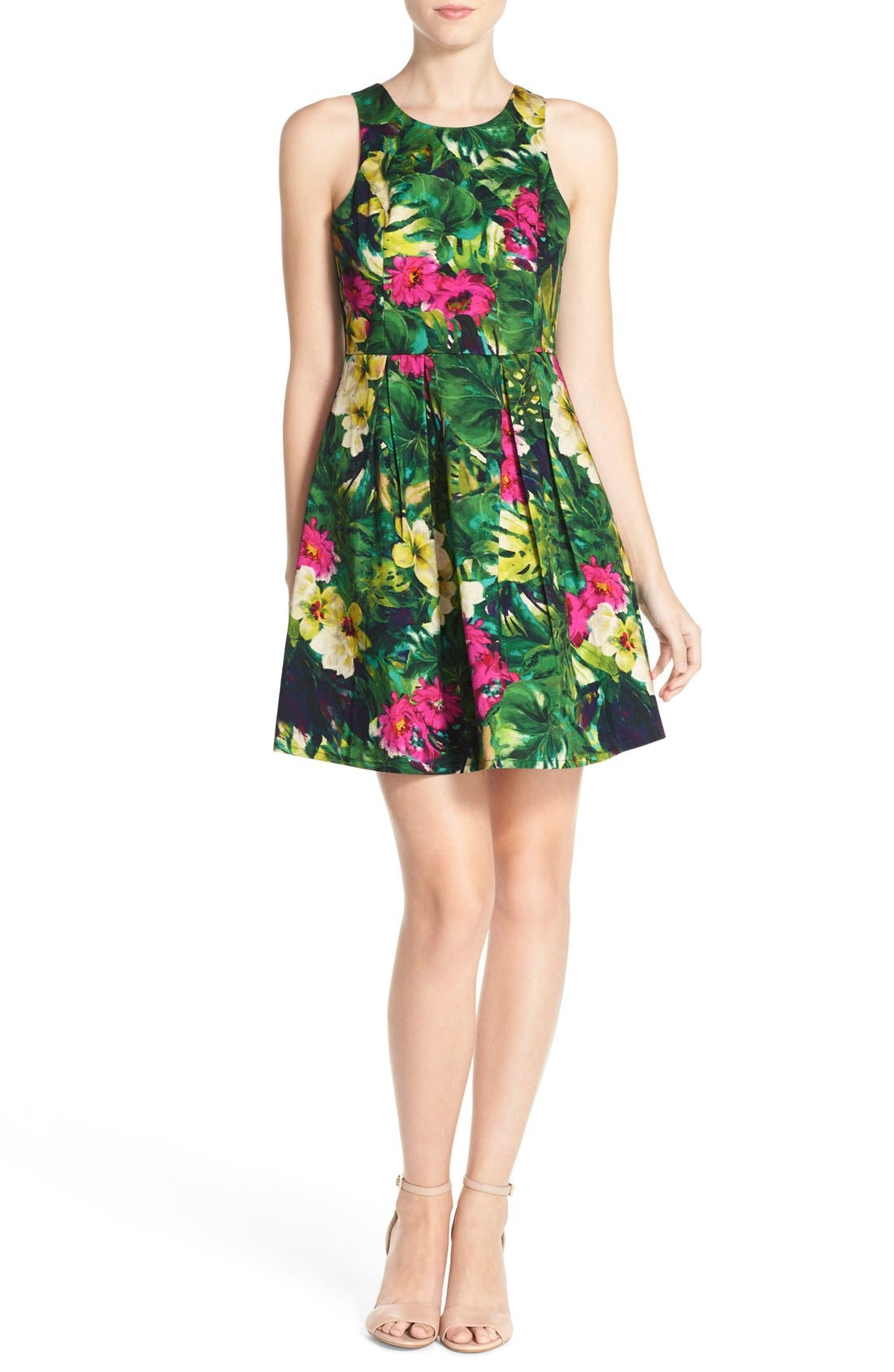 Alternate Image 4  - Felicity & Coco Floral Print Fit & Flare Dress (Regular & Petite) (Nordstrom Exclusive)