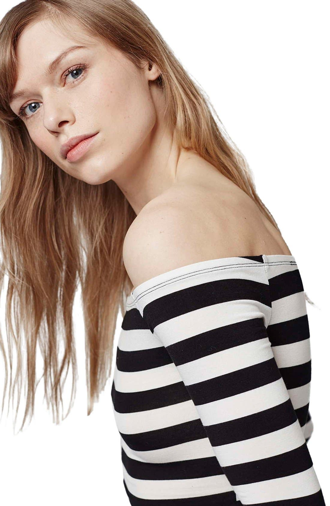 Alternate Image 6  - Topshop Stripe Off the Shoulder Top