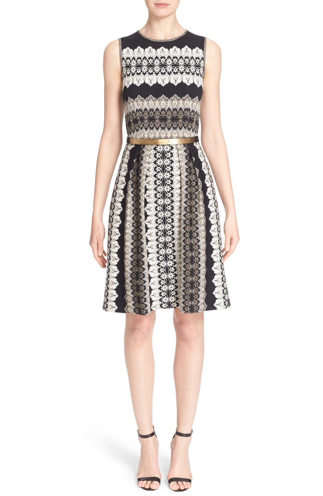 Alternate Image 1 Selected - St. John Collection Jeweled Shimmer Knit Dress