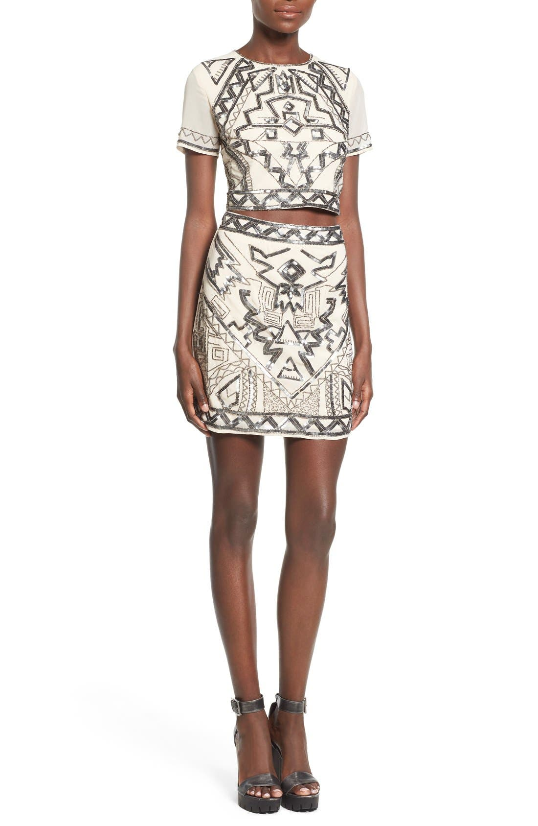 Alternate Image 4  - Missguided Embellished Miniskirt
