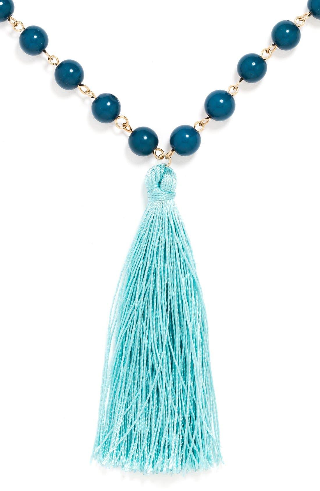 Alternate Image 3  - BaubleBar 'Bali' Tassel Pendant Necklace