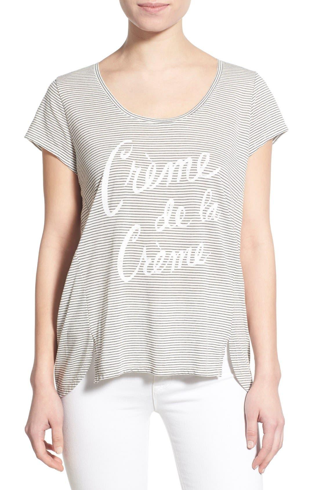 Main Image - Sol Angeles 'Crème de la Crème' Stripe Tee