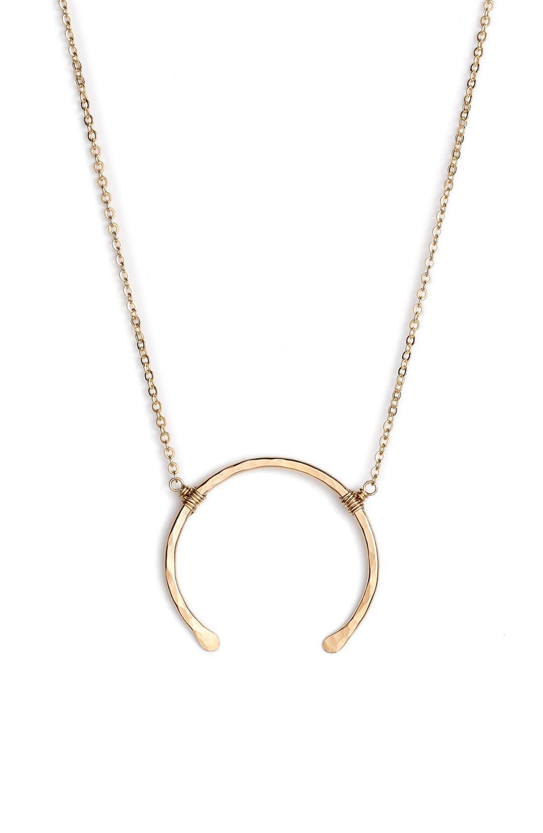 'Imogen' Crescent Pendant Necklace,                         Main,                         color, Gold