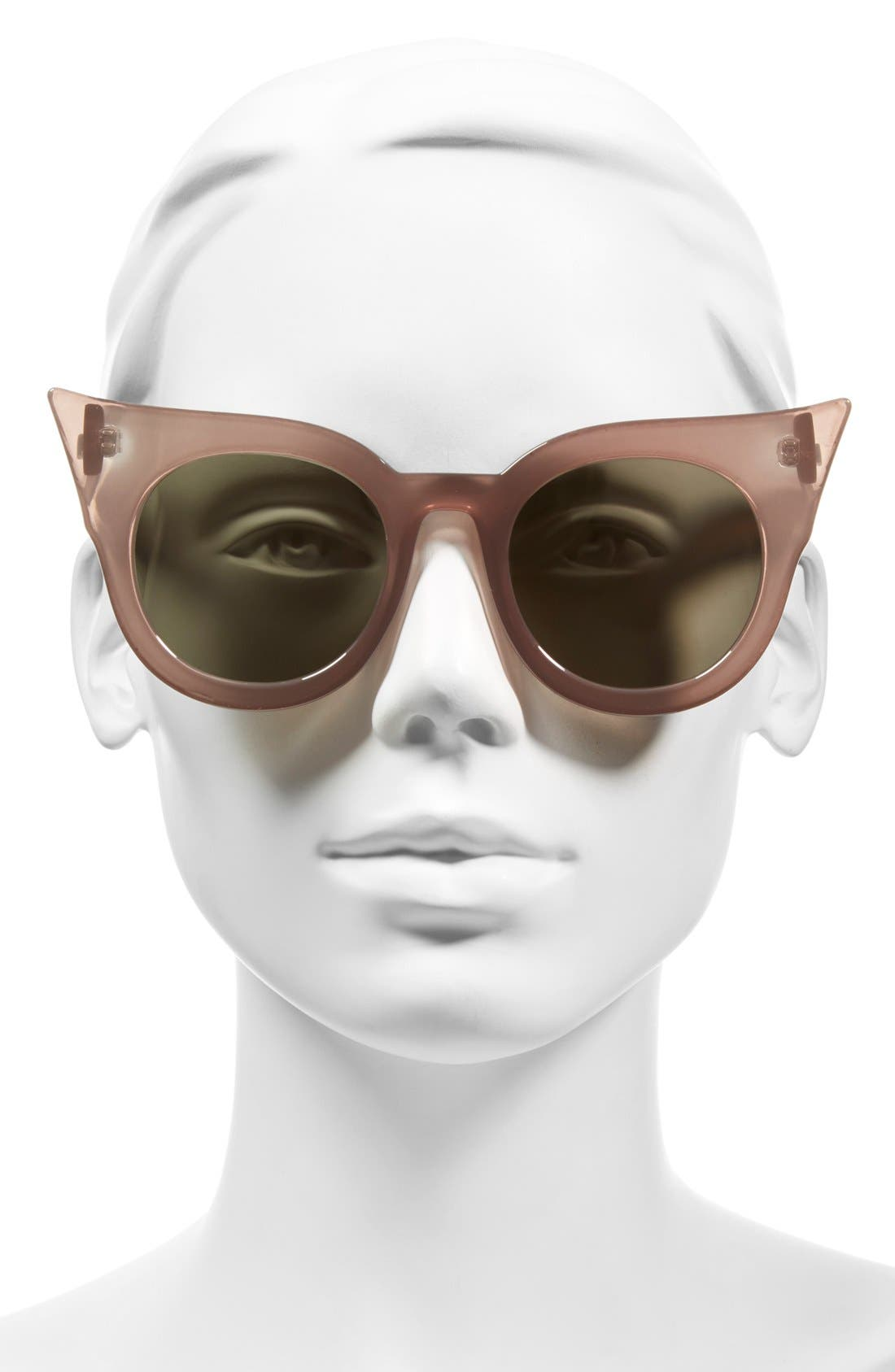 'Flashy' 51mm Sunglasses,                             Alternate thumbnail 2, color,                             Taupe