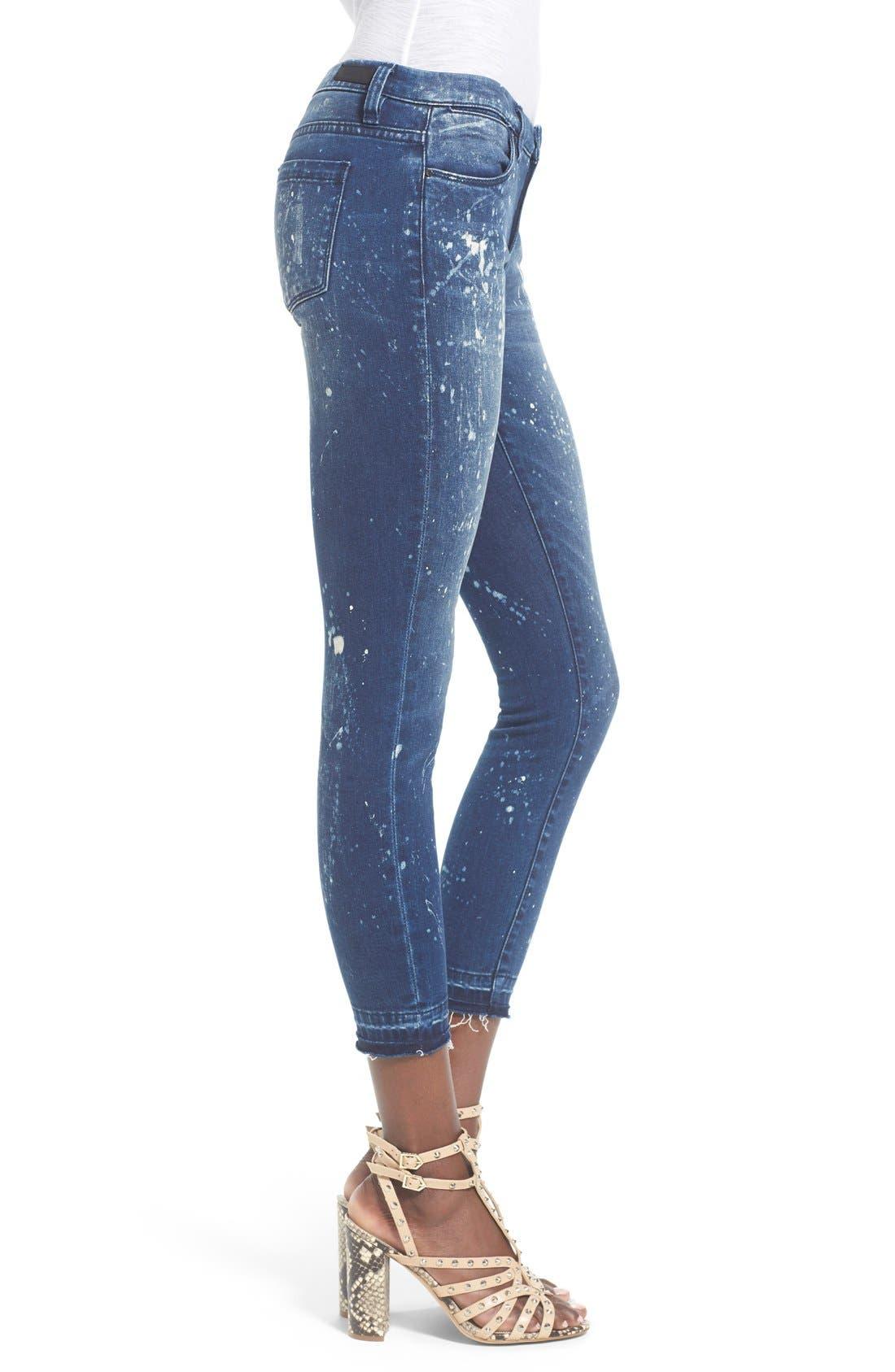 Alternate Image 4  - BLANKNYC Paint Splatter Crop Skinny Jeans (Reef Blower)