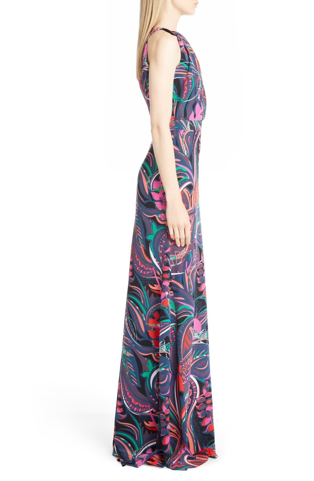 Alternate Image 4  - Emilio Pucci Print Silk Halter Gown