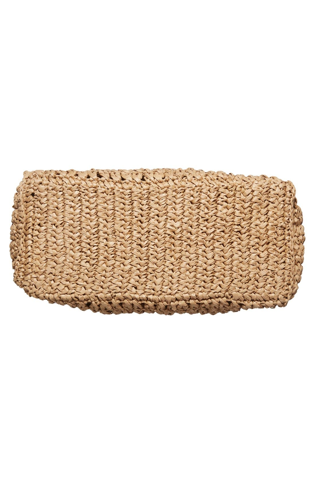 Woven Straw Tote,                             Alternate thumbnail 6, color,                             Natural