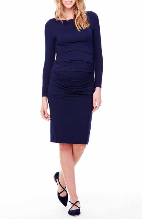 Ingrid & Isabel® Shirred Maternity Dress