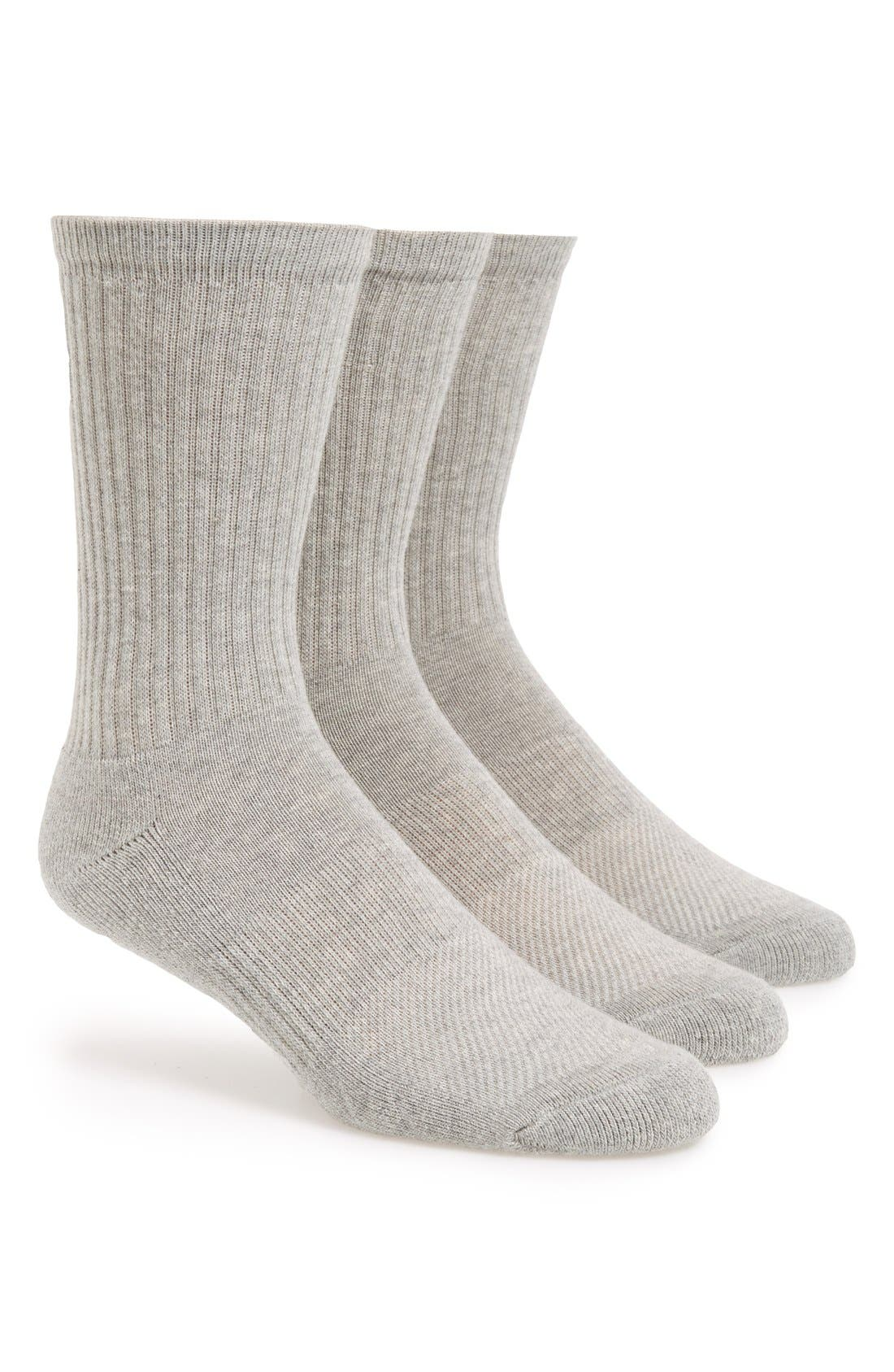 Nordstrom Men's Shop 3-Pack Athletic Socks (3 for $30)