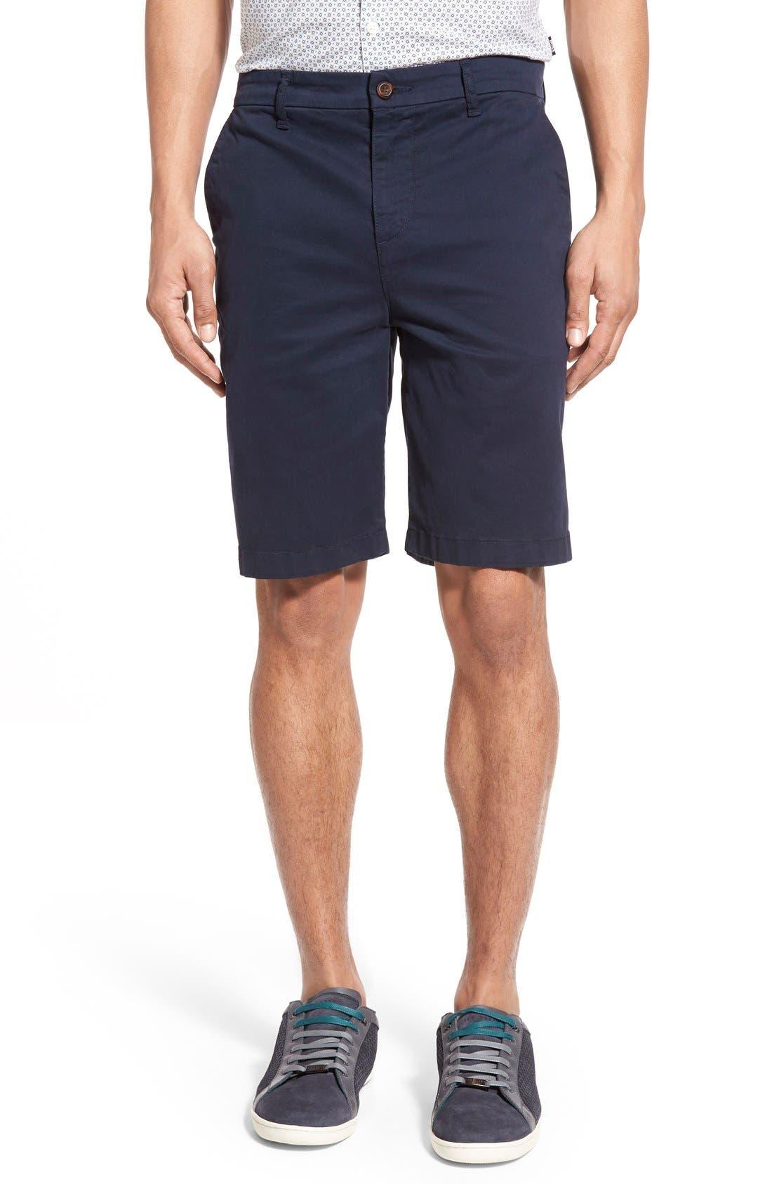 'Thompson' Slim Fit Shorts,                             Main thumbnail 1, color,                             Navy Cadet
