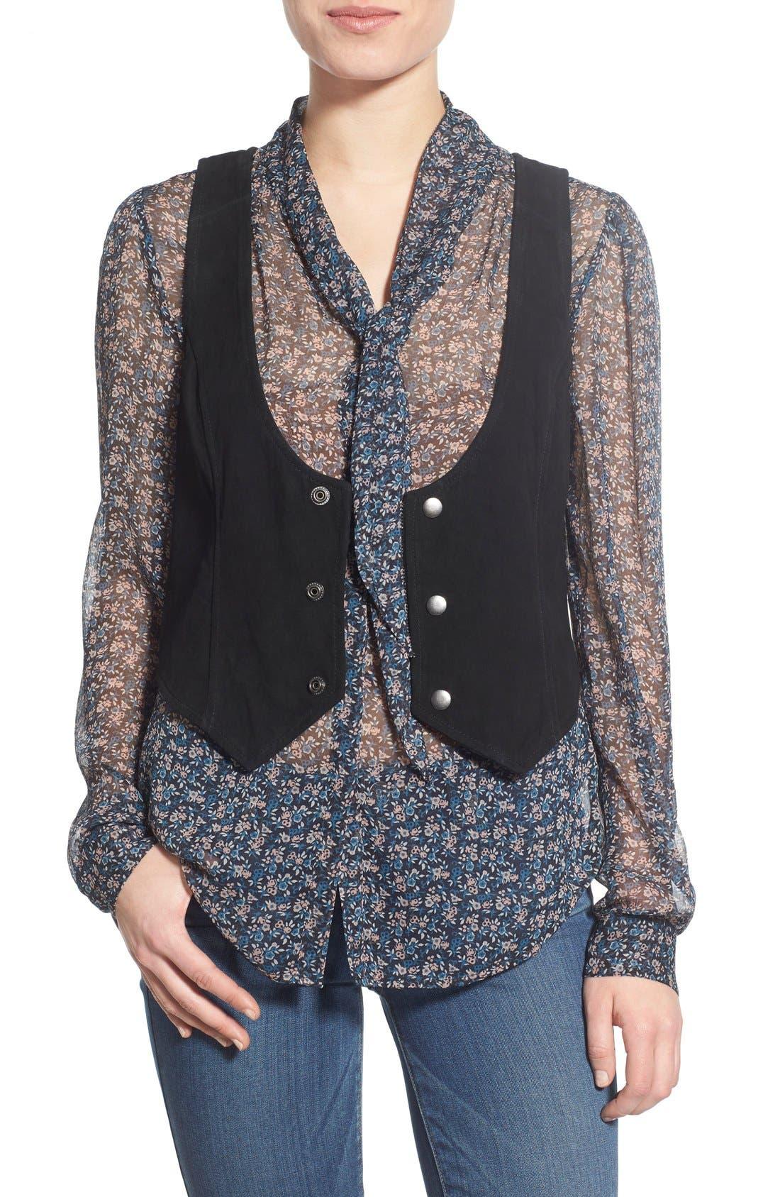 Main Image - PAIGE 'Janelle' Suede Vest