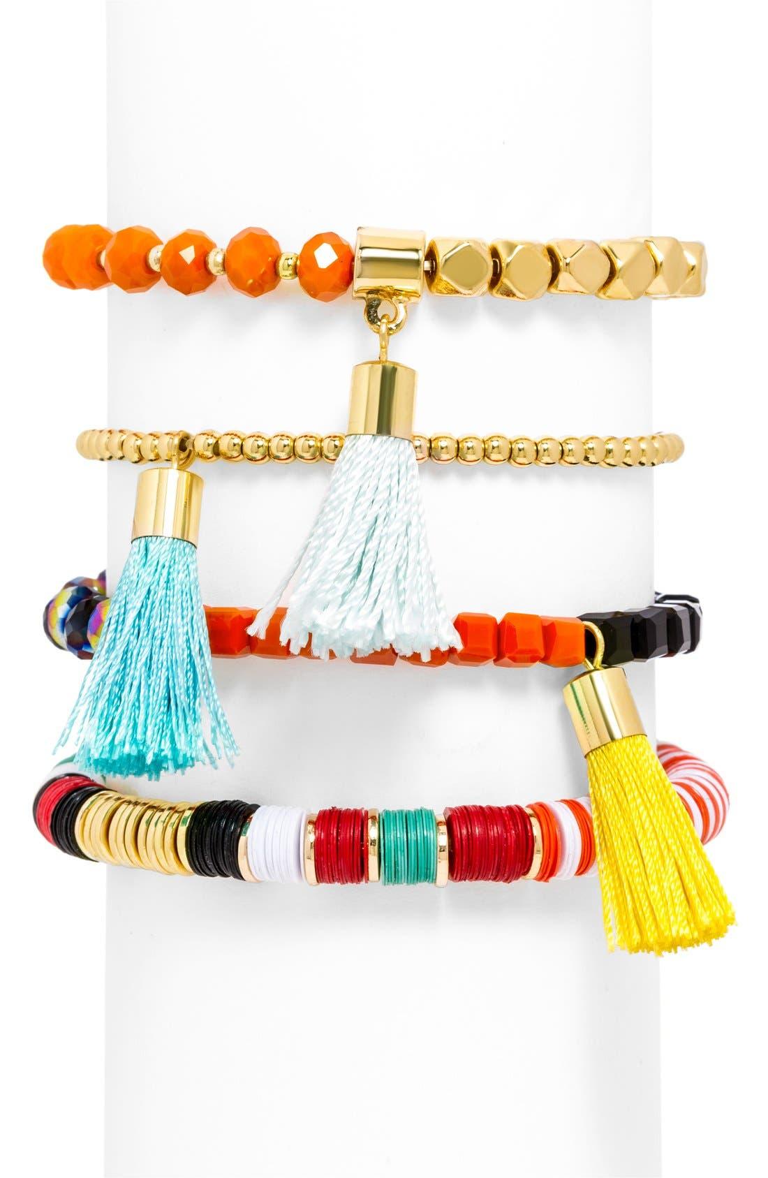 Alternate Image 2  - BaubleBar 'Maldives' Beaded Stretch Bracelets (Set of 4)