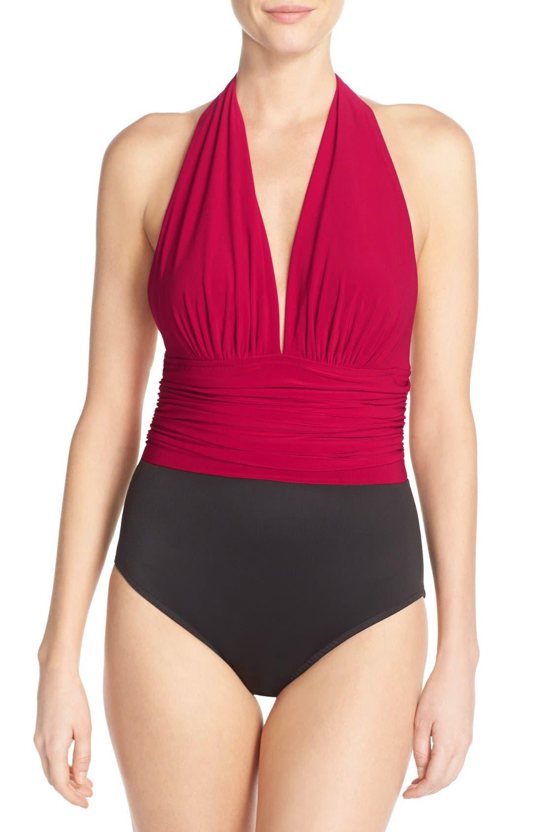 Main Image - Magicsuit® 'Yves' Halter Neck One-Piece Swimsuit