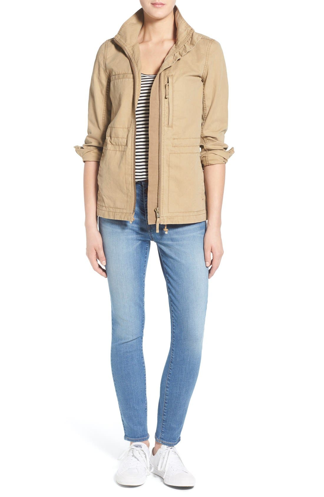 Alternate Image 7  - Madewell 'High Riser - Button Through' Crop Skinny Skinny Jeans (Kearney Wash)
