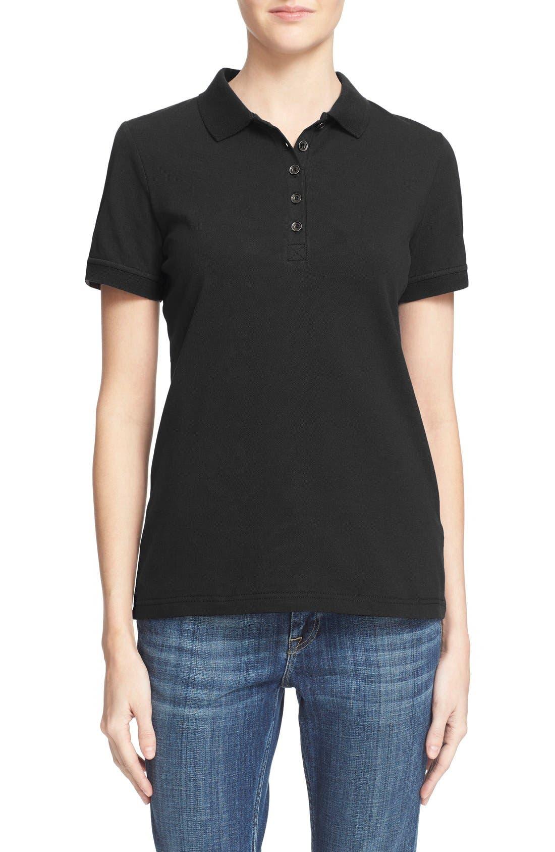 Short Sleeve Polo,                         Main,                         color, Black