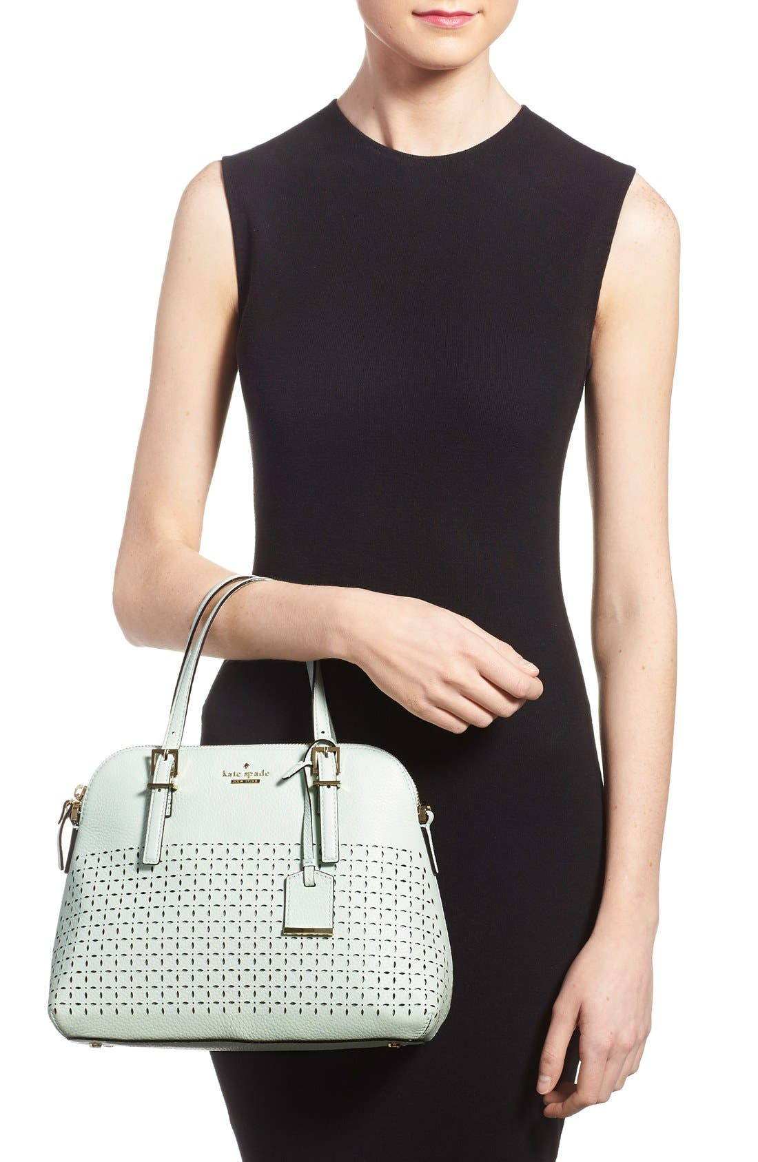 Alternate Image 2  - kate spade new york 'milton lane - maise' perforated leather satchel (Nordstrom Exclusive)