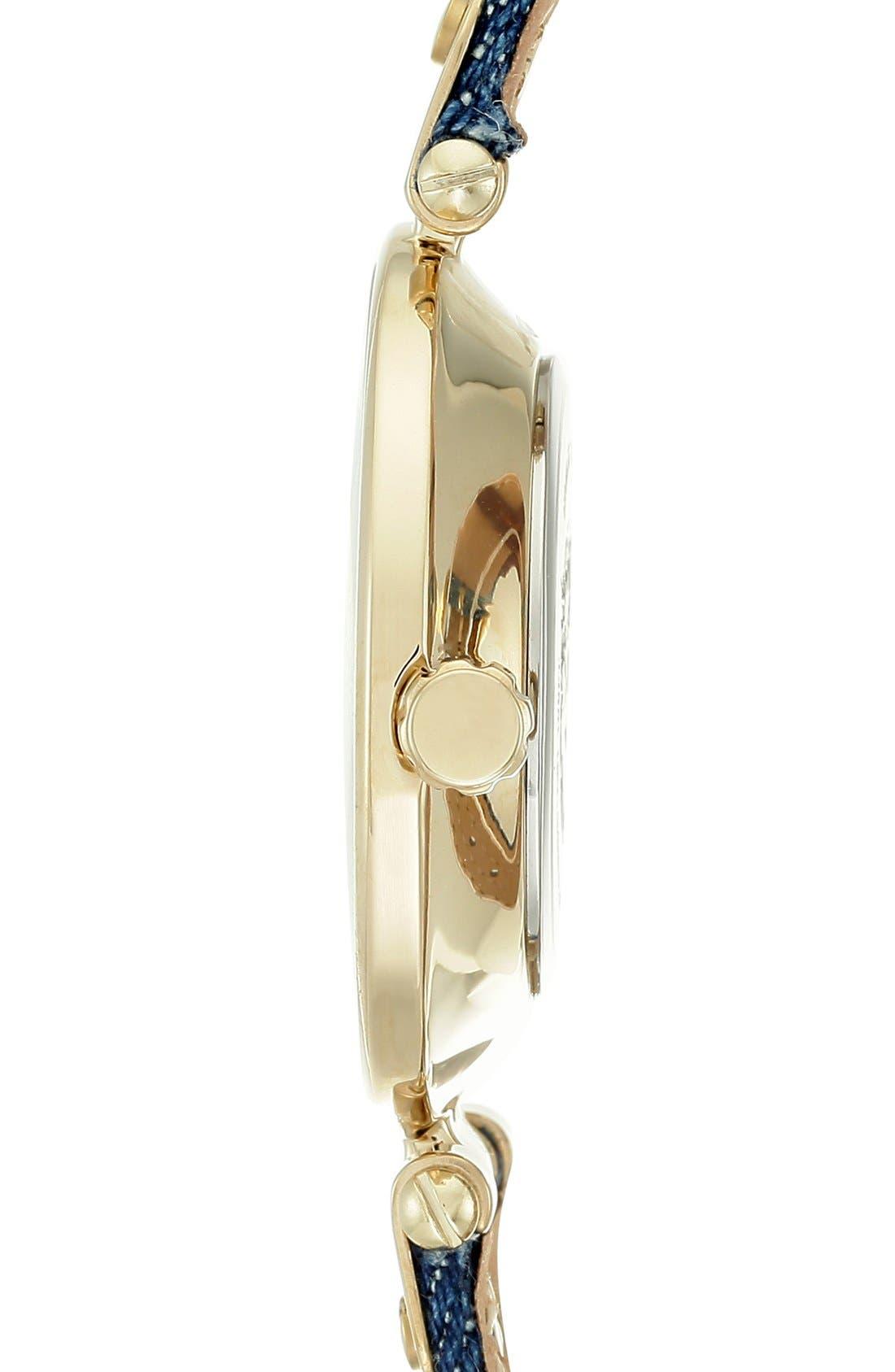 Alternate Image 3  - Anne Klein Denim Strap Watch, 34mm