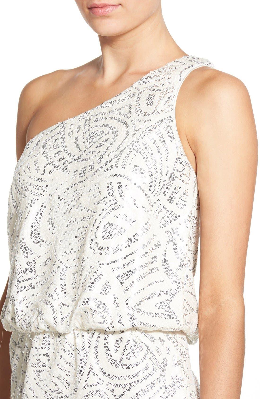 Alternate Image 4  - Secret Charm Embellished One-Shoulder Minidress