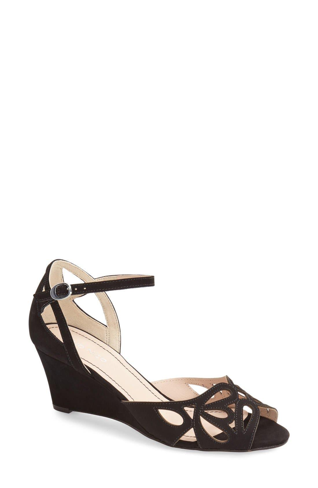 'Kismet' Wedge Sandal,                         Main,                         color, Black