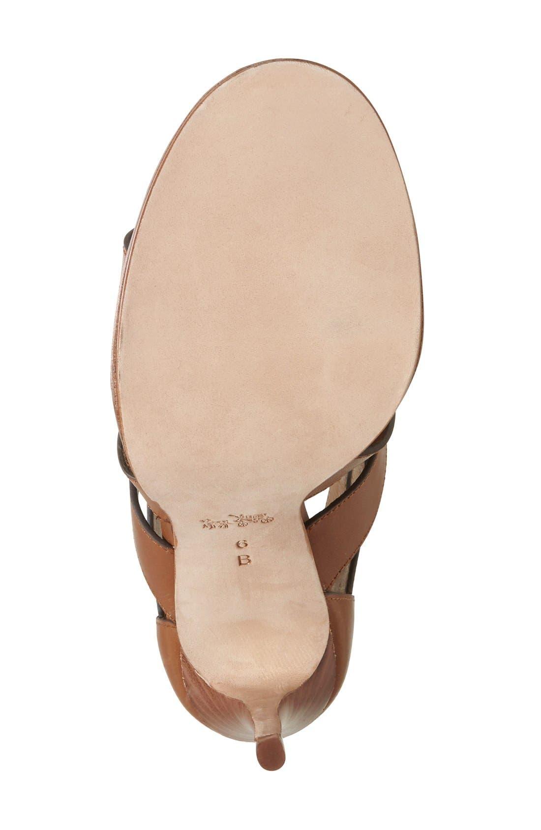 Alternate Image 4  - COACH 'Leslie' Lace-Up Sandal (Women)