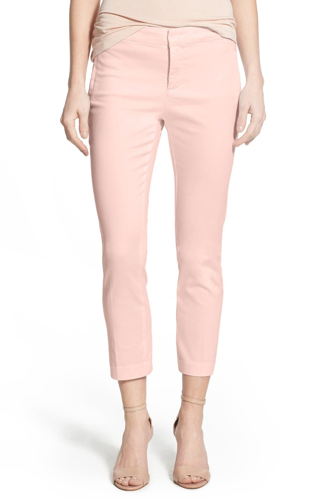 Alternate Image 1 Selected - NYDJ 'Corynna' Print Stretch Sateen Slim Ankle Pants (Regular & Petite)