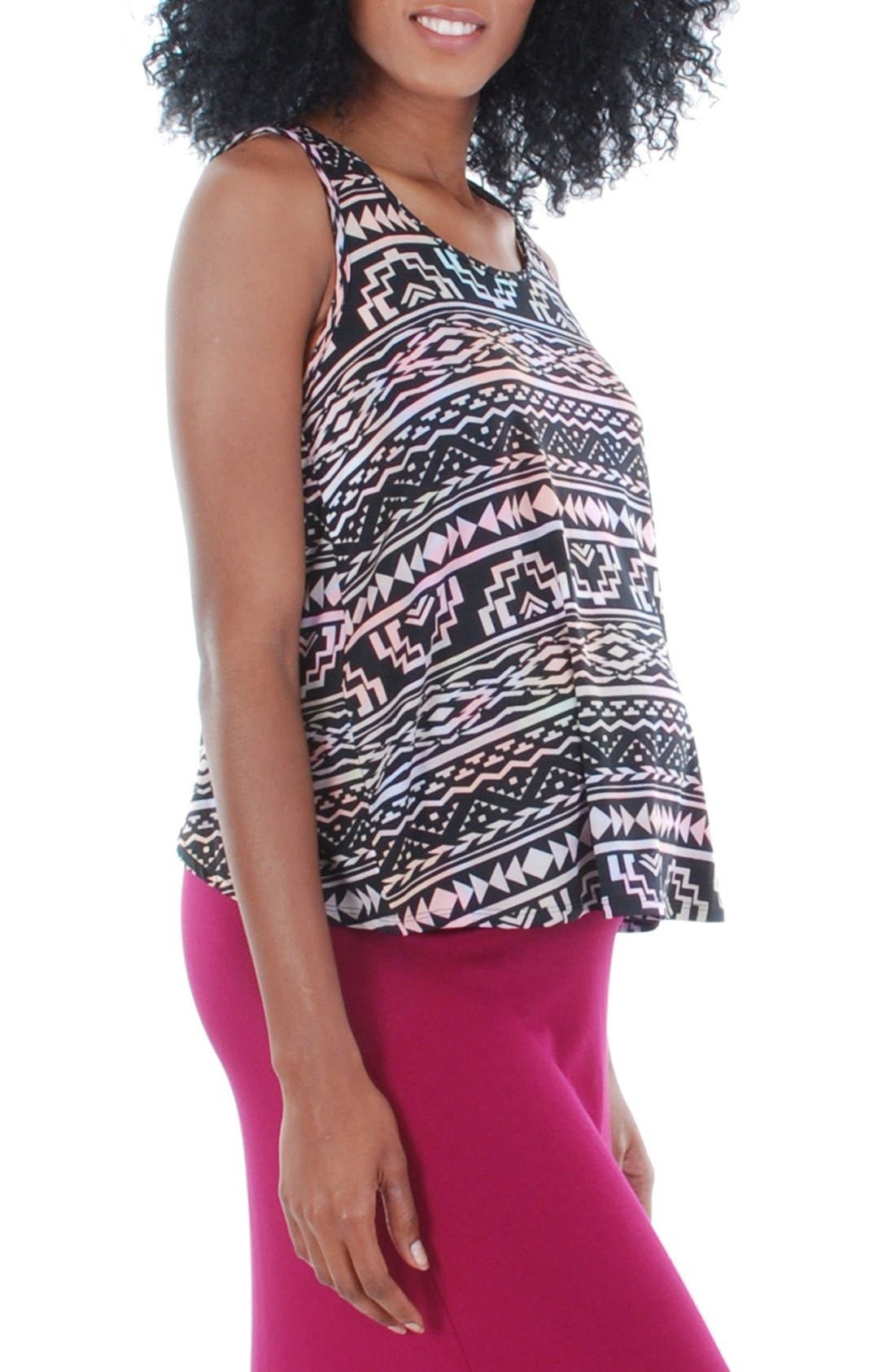 'Brisa' Maternity Tank,                             Main thumbnail 1, color,                             Tribal Pink