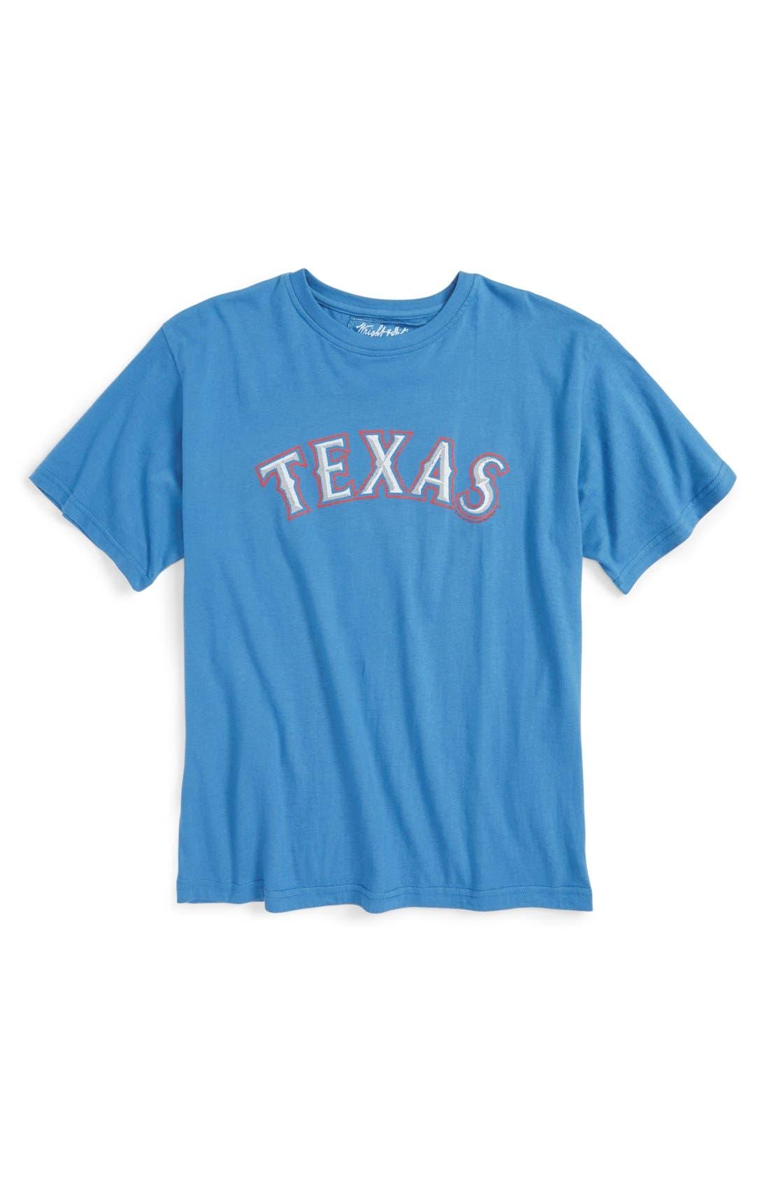 'Texas Rangers' T-Shirt,                         Main,                         color, Royal