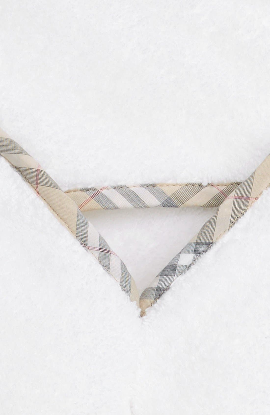 Alternate Image 2  - Burberry Hooded Towel & Bath Mit Gift Set (Baby)