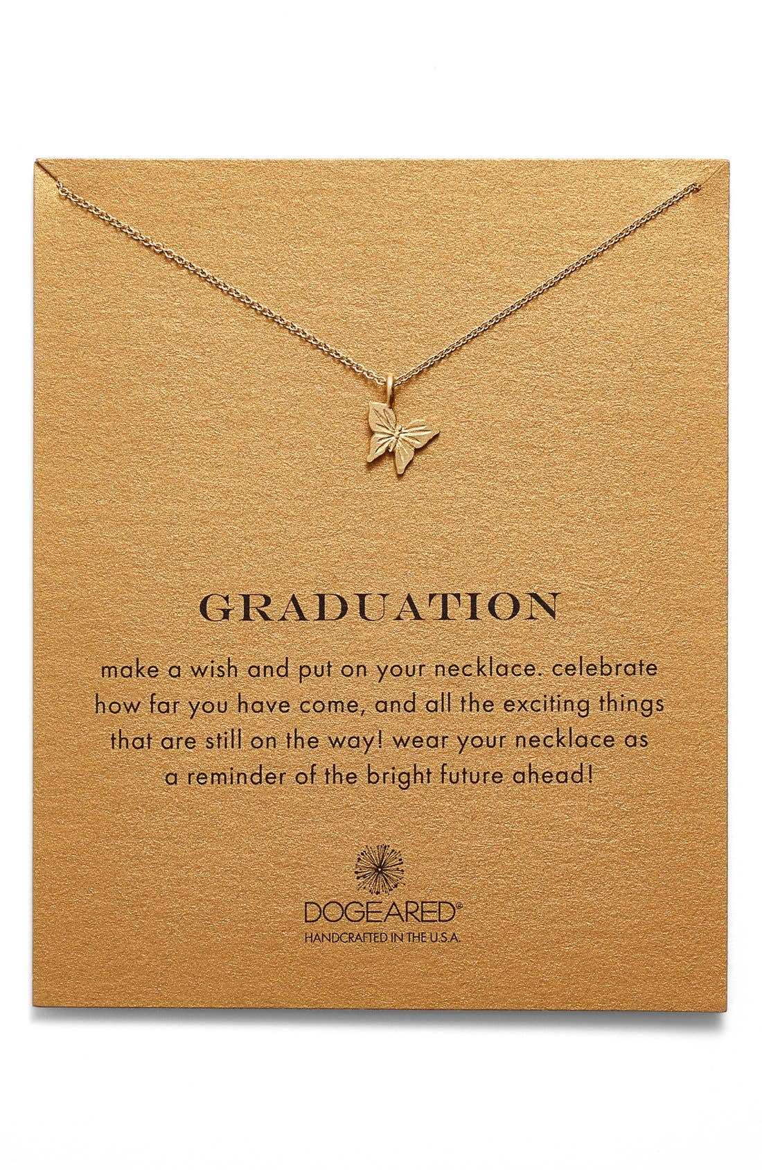 Alternate Image 1 Selected - Dogeared 'Graduation' Butterfly Pendant Necklace