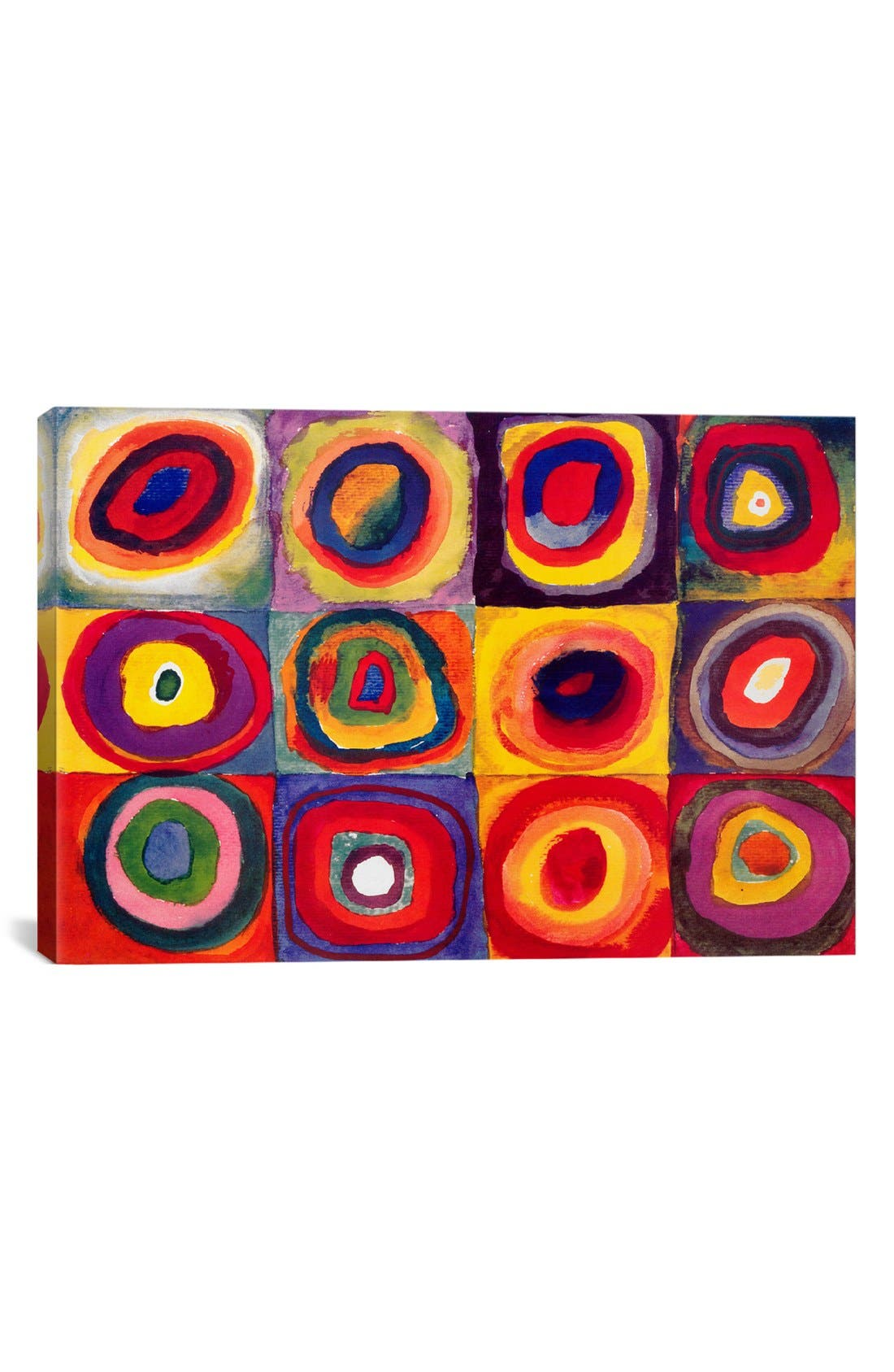'Squares With Concentric Circles - Wassily Kandinsky' Giclée Print Canvas Art,                         Main,                         color, Red