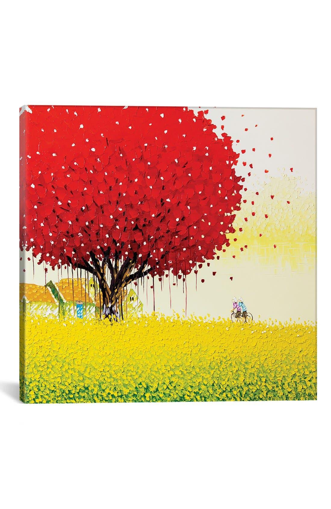 'Golden Season' Giclée Print Canvas Art,                             Main thumbnail 1, color,                             Red