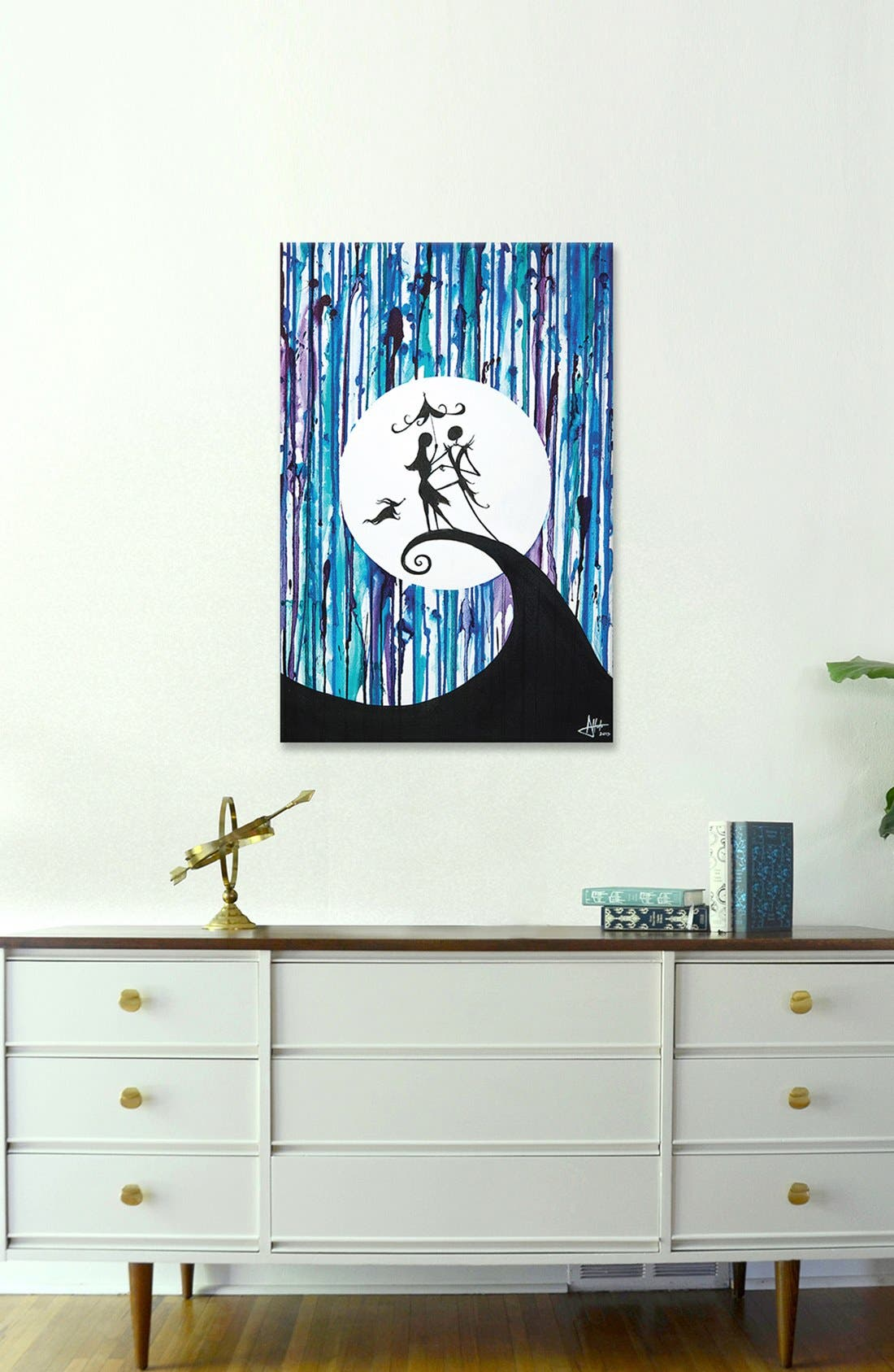 'Something in the Air' Giclée Print Canvas Art,                             Alternate thumbnail 2, color,                             Blue
