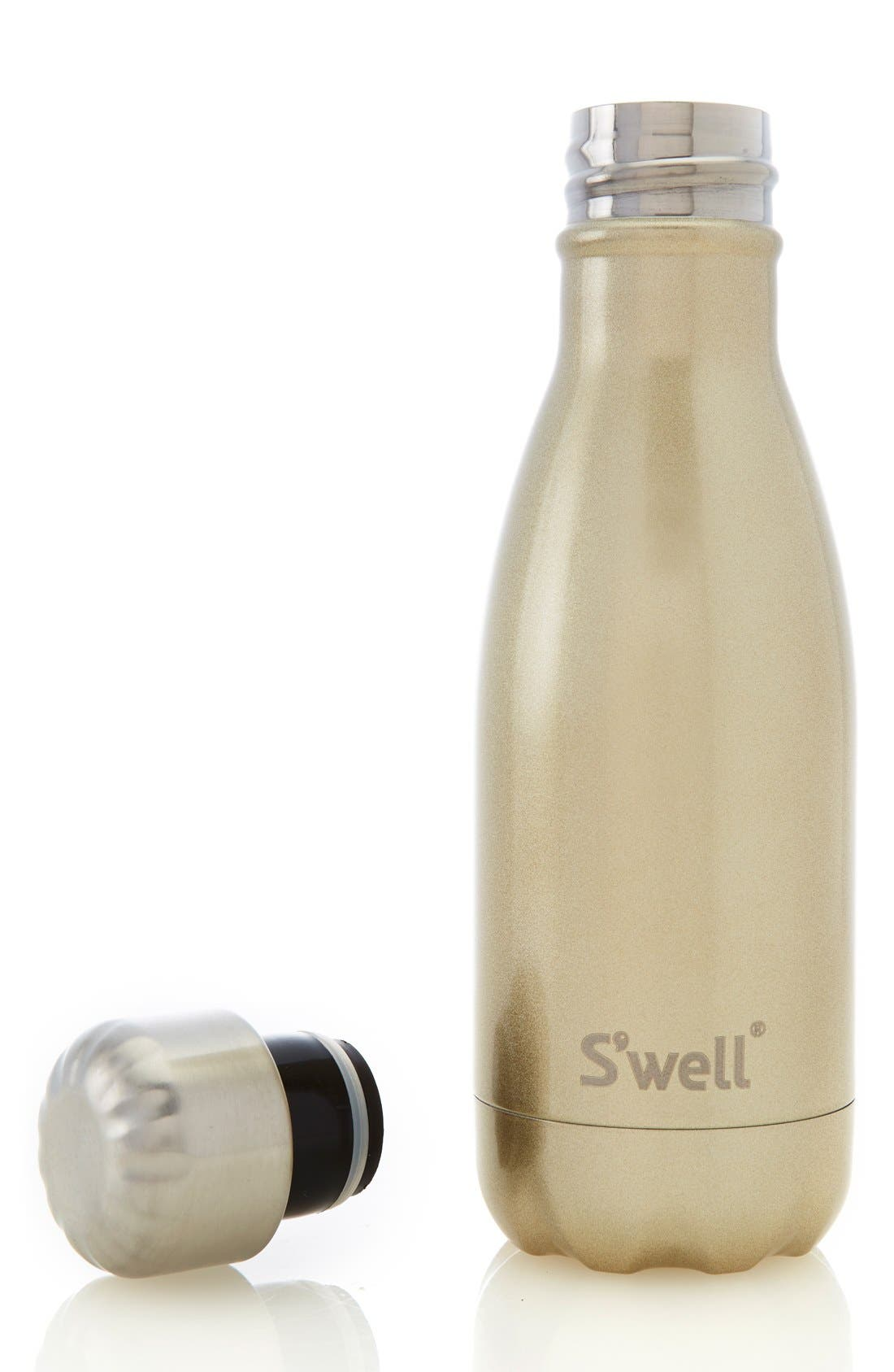 'Sparkling Champagne' Stainless Steel Water Bottle,                             Alternate thumbnail 4, color,                             Gold