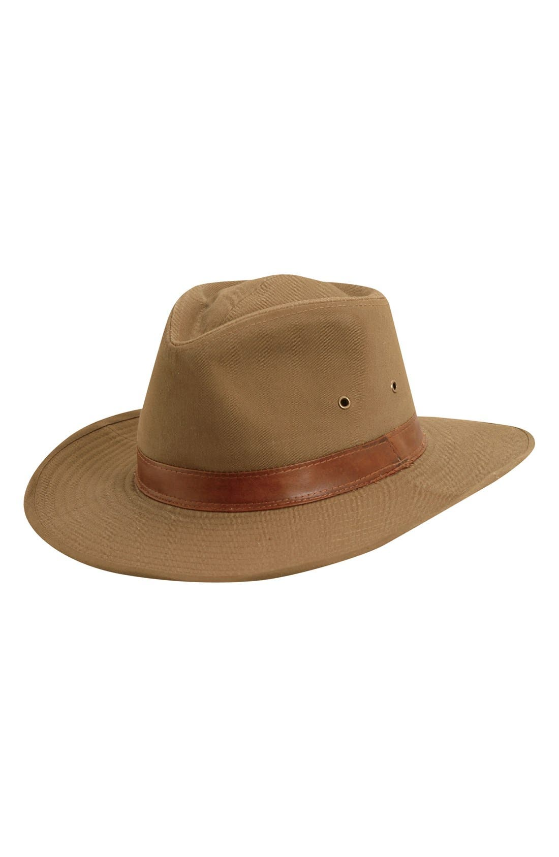 Cotton Outback Hat,                         Main,                         color, Bark