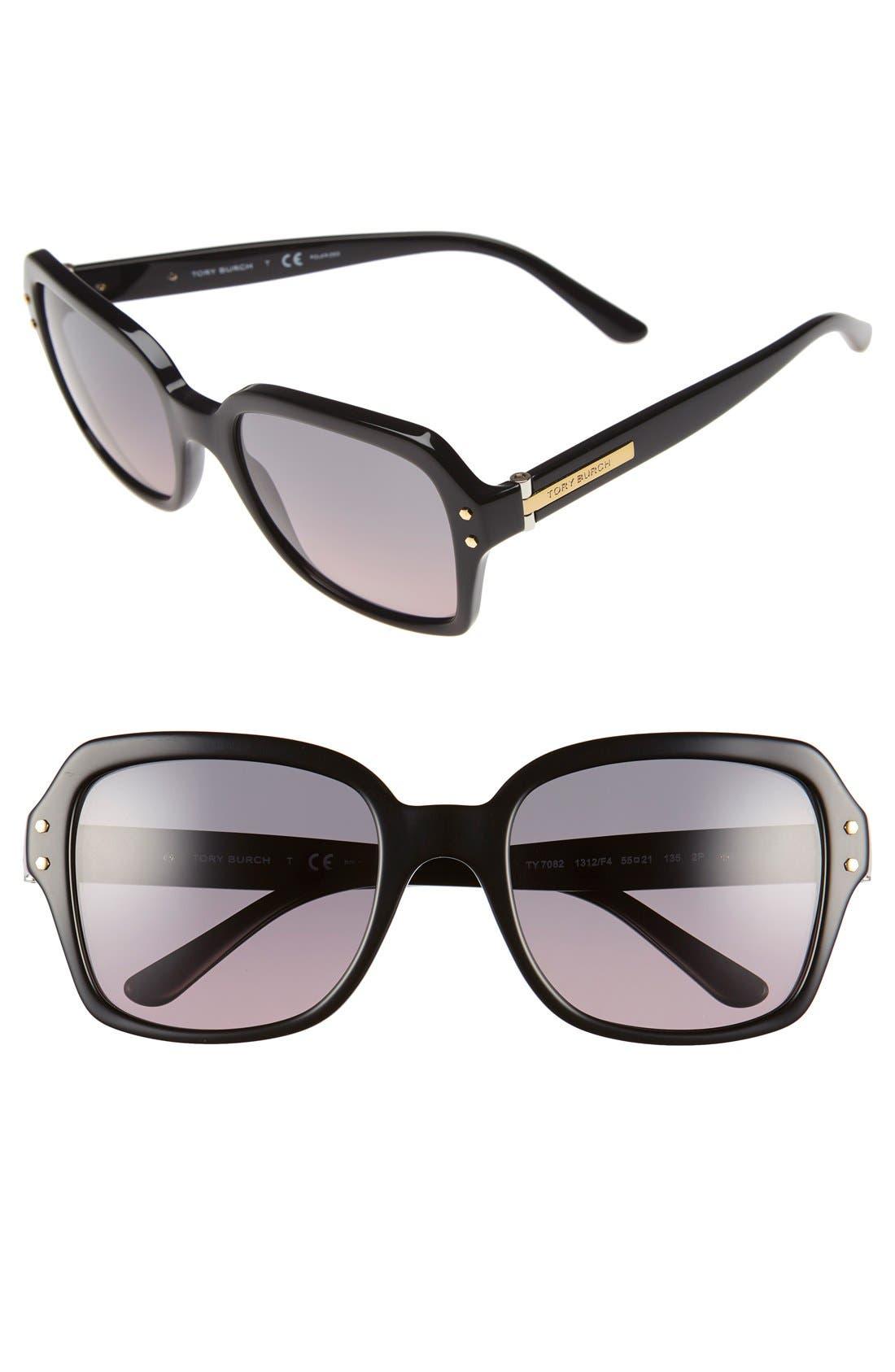 Main Image - Tory Burch 55mm Polarized Sunglasses