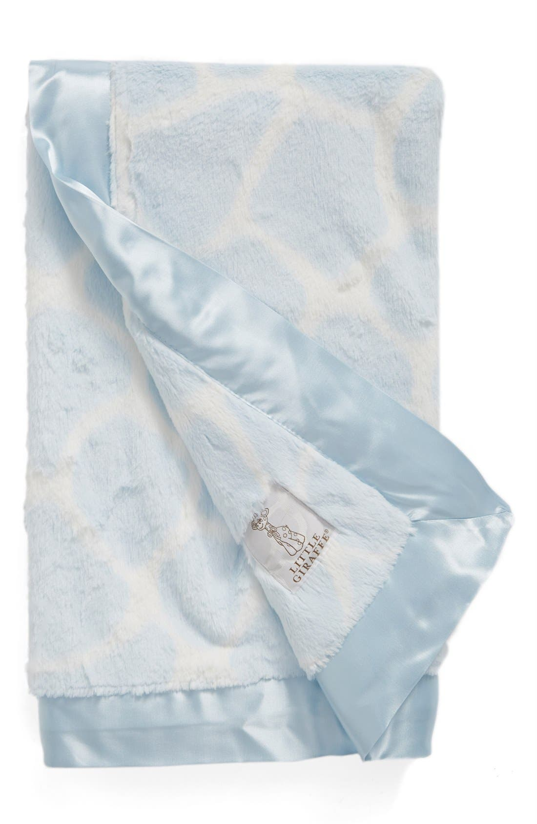 'Luxe Giraffe Print<sup>™</sup>' Blanket,                             Main thumbnail 1, color,                             Blue