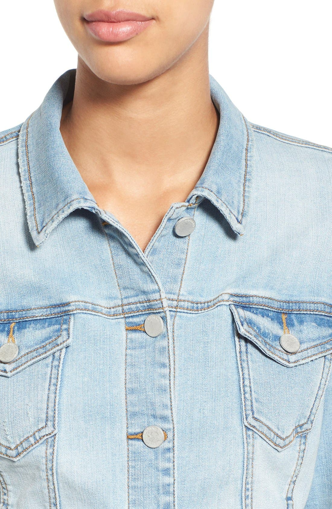 Alternate Image 4  - Caslon® Denim Jacket (Regular & Petite)