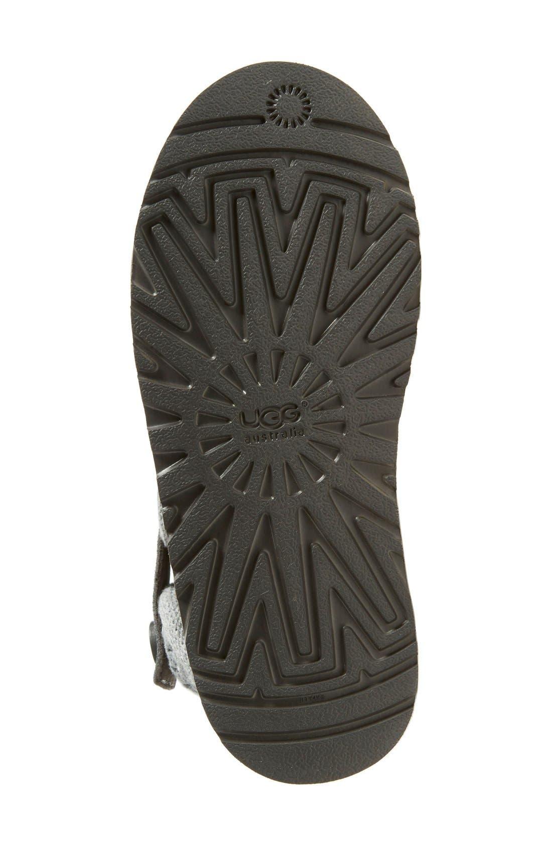 Alternate Image 4  - UGG® Darrah Purl Knit Cuff Boot (Little Kid & Big Kid)