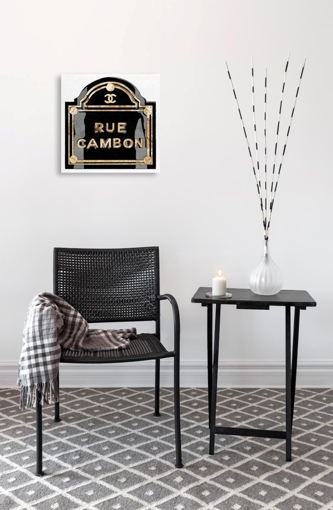 'Rue Cambon' Canvas Wall Art,                             Alternate thumbnail 2, color,                             White/ Black
