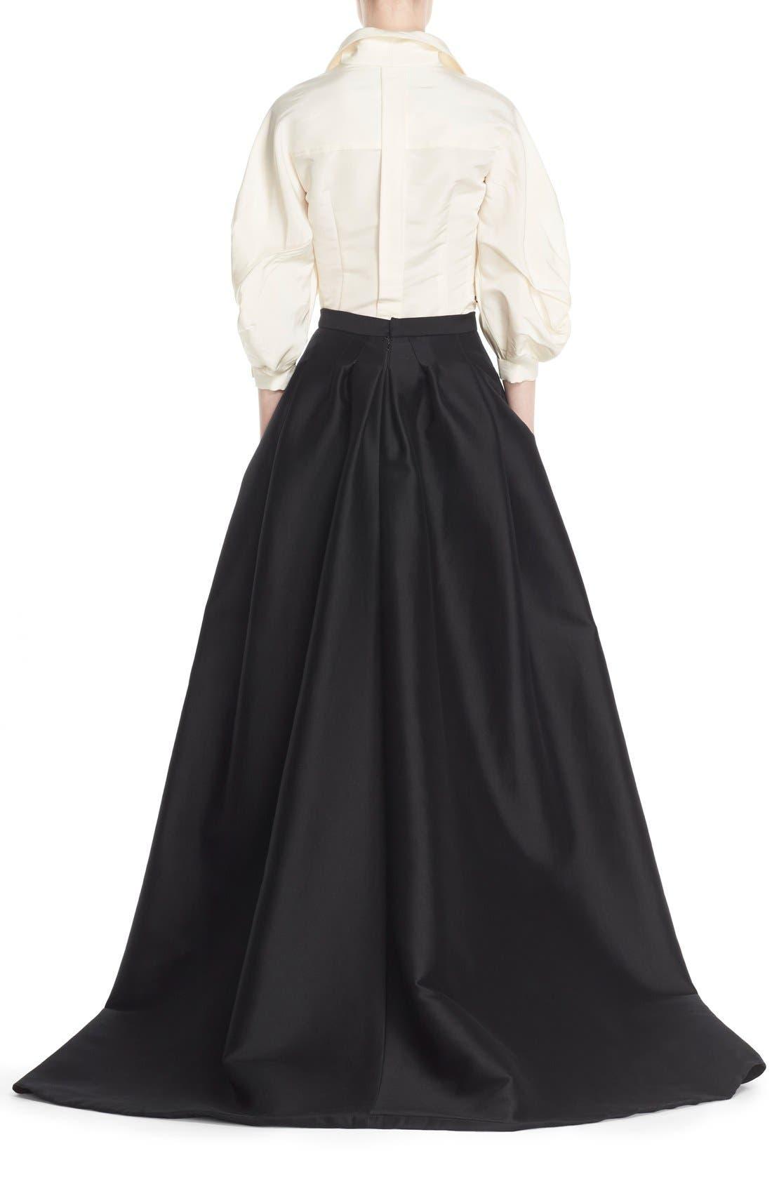 Alternate Image 4  - Carolina Herrera Full Sleeve Silk Blouse