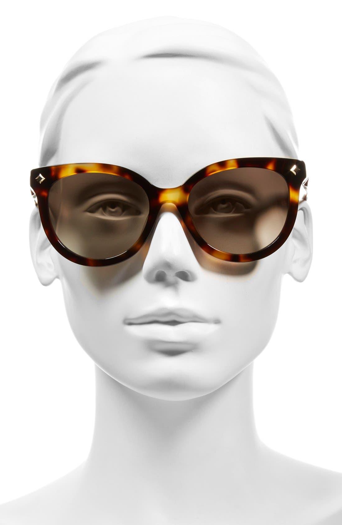 56mm Retro Sunglasses,                             Alternate thumbnail 2, color,                             Havana