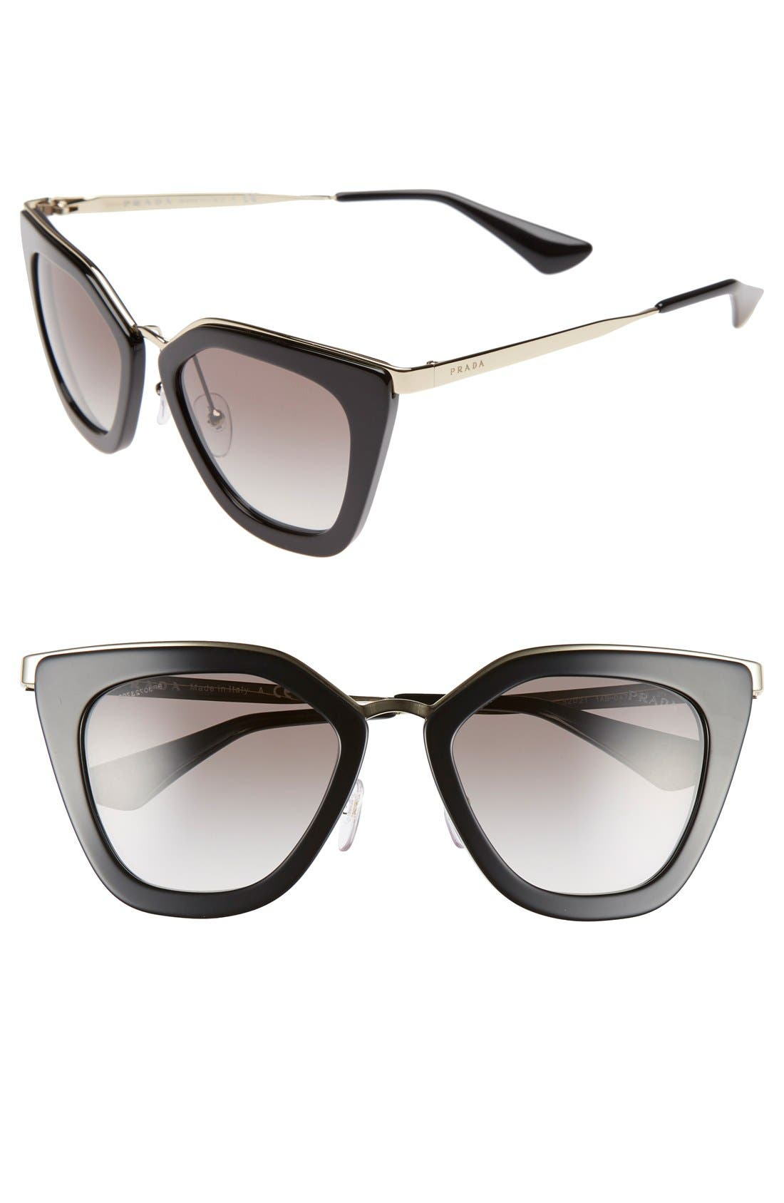 Main Image - Prada 52mm Cat Eye Sunglasses